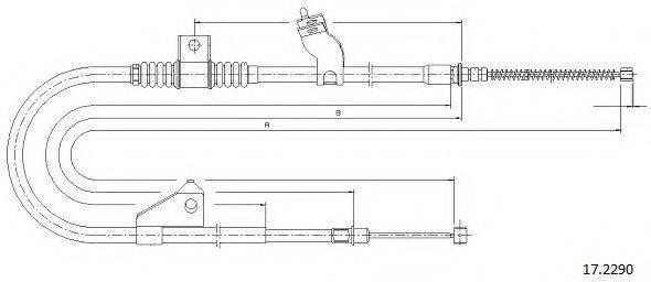CABOR 172290 Трос, стояночная тормозная система