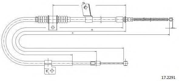 CABOR 172291 Трос, стояночная тормозная система