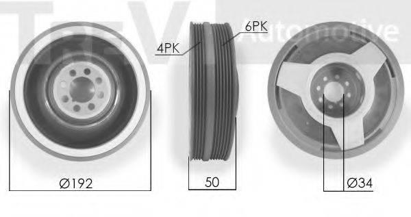 TREVI AUTOMOTIVE PC1026 Ременный шкив, коленчатый вал