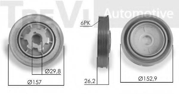 TREVI AUTOMOTIVE PC1239 Ременный шкив, коленчатый вал