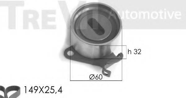 TREVI AUTOMOTIVE KD1165 Комплект ремня ГРМ
