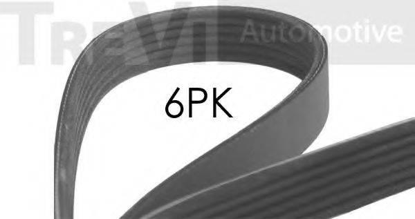 TREVI AUTOMOTIVE 6PK1760 Поликлиновой ремень