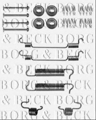 BORG & BECK BBK6155 Комплектующие, колодки дискового тормоза