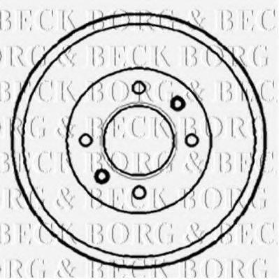 BORG & BECK BBR7088 Тормозной барабан