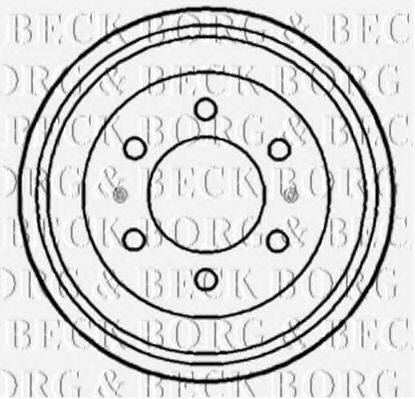 BORG & BECK BBR7102 Тормозной барабан