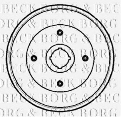 BORG & BECK BBR7103 Тормозной барабан