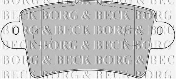 BORG & BECK BBP1773 Комплект тормозных колодок, дисковый тормоз