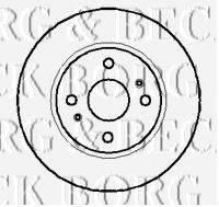 BORG & BECK BBD4059 Тормозной диск