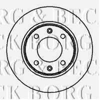 BORG & BECK BBD4012 Тормозной диск