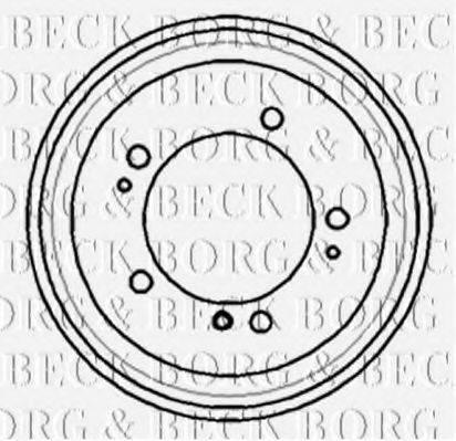 BORG & BECK BBR7170 Тормозной барабан