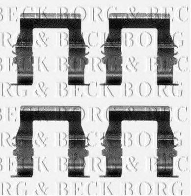 BORG & BECK BBK1095 Комплектующие, колодки дискового тормоза