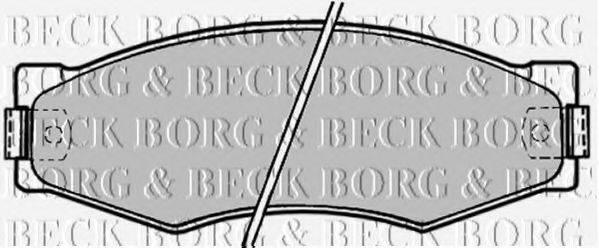 BORG & BECK BBP1180 Комплект тормозных колодок, дисковый тормоз