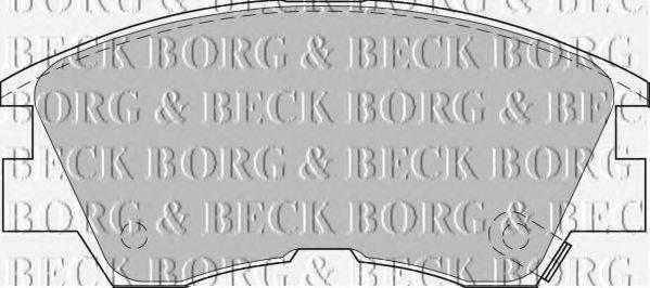 BORG & BECK BBP1511 Комплект тормозных колодок, дисковый тормоз
