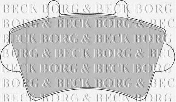 BORG & BECK BBP1746 Комплект тормозных колодок, дисковый тормоз