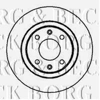 BORG & BECK BBD4006 Тормозной диск