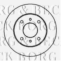 BORG & BECK BBD4008 Тормозной диск
