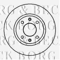 BORG & BECK BBD4835 Тормозной диск