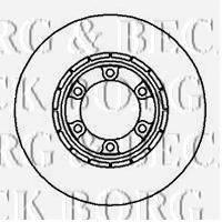 BORG & BECK BBD5006 Тормозной диск