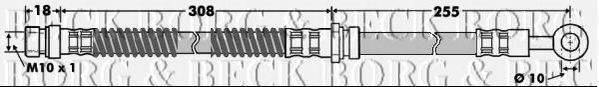 BORG & BECK BBH7501 Тормозной шланг