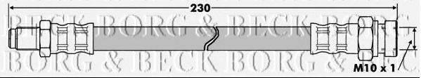 BORG & BECK BBH7502 Тормозной шланг