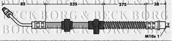 BORG & BECK BBH7517 Тормозной шланг