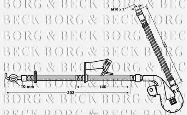BORG & BECK BBH7763 Тормозной шланг
