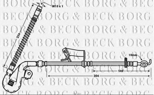 BORG & BECK BBH7764 Тормозной шланг