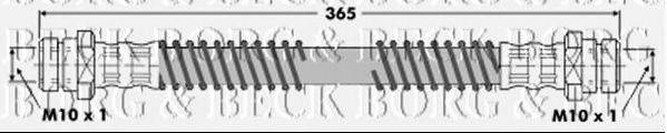 BORG & BECK BBH6332 Тормозной шланг