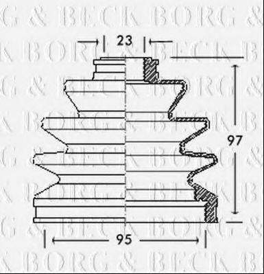 BORG & BECK BCB2063 Пыльник, приводной вал