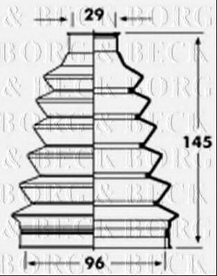 BORG & BECK BCB2361 Пыльник, приводной вал