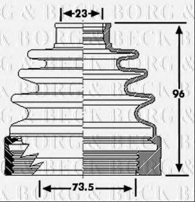 BORG & BECK BCB6222 Пыльник, приводной вал