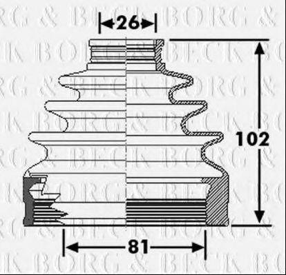 BORG & BECK BCB6267 Пыльник, приводной вал