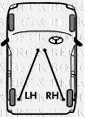 BORG & BECK BKB2879 Трос, стояночная тормозная система