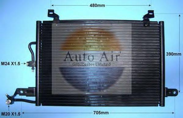 AUTO AIR GLOUCESTER 166151 Конденсатор, кондиционер
