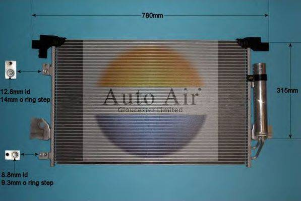 AUTO AIR GLOUCESTER 169006 Конденсатор, кондиционер