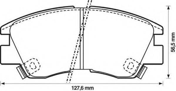 JURID 572281J Комплект тормозных колодок, дисковый тормоз