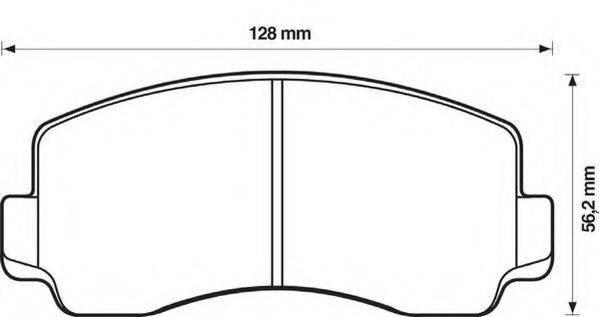 JURID 572299J Комплект тормозных колодок, дисковый тормоз