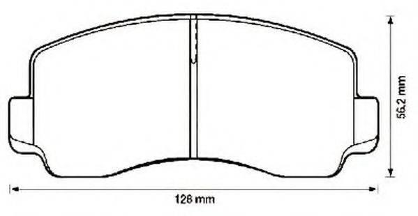JURID 572302J Комплект тормозных колодок, дисковый тормоз