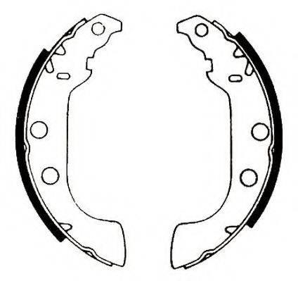 JURID 361439J Комплект тормозных колодок