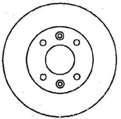 JURID 561364JC Тормозной диск