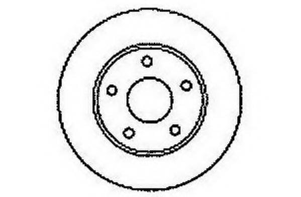 JURID 561549JC Тормозной диск