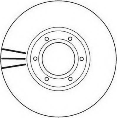 JURID 562105JC Тормозной диск