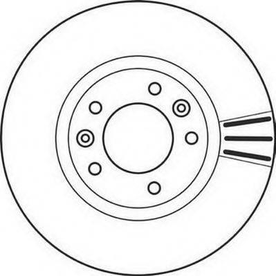 JURID 562126JC Тормозной диск