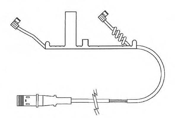JURID 587021 Сигнализатор, износ тормозных колодок