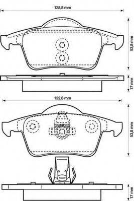JURID 573132JC Комплект тормозных колодок, дисковый тормоз