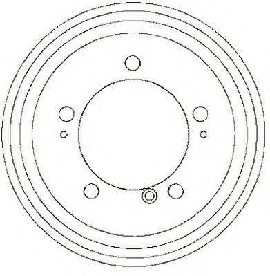 JURID 329244J Тормозной барабан
