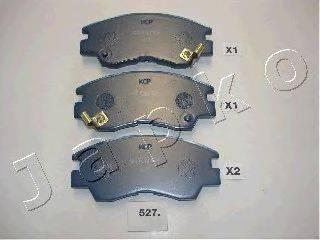 JAPKO 50527 Комплект тормозных колодок, дисковый тормоз