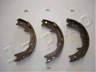 JAPKO 55507 Комплект тормозных колодок, стояночная тормозная система
