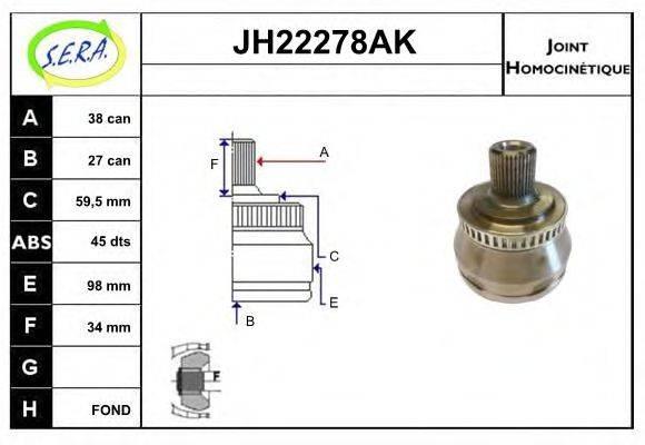 SERA JH22278AK Шарнирный комплект, приводной вал