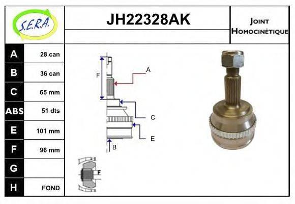 SERA JH22328AK Шарнирный комплект, приводной вал